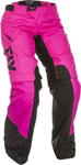 Fly Racing MX Motocross Women's Over The Boots Pants (Neon Pink/Black)