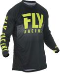 Fly Racing MX Motocross Lite Hydrogen Jersey (Black/Hi-Vis)