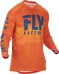 Fly Racing MX Motocross Lite Hydrogen Jersey (Orange/Navy)