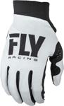 Fly Racing MX Motocross Women's Pro Lite Gloves (White/Black)