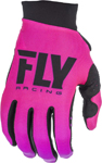 Fly Racing MX Motocross Women's Pro Lite Gloves (Neon Pink/Black)