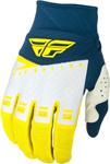 Fly Racing MX Motocross F-16 Gloves (Yellow/White/Navy)