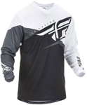Fly Racing MX Motocross Boys Youth F-16 Jersey (Black/White/Grey)