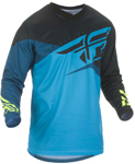 Fly Racing MX Motocross Boys Youth F-16 Jersey (Blue/Black/Hi-Vis)