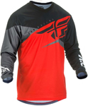Fly Racing MX Motocross Boys Youth F-16 Jersey (Red/Black/Grey)