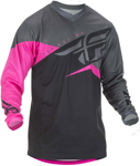 Fly Racing MX Motocross Boys Youth F-16 Jersey (Neon Pink/Black/Grey)