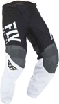 Fly Racing MX Motocross Boys Youth F-16 Pants (Black/White/Grey)