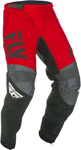 Fly Racing MX Motocross Boys Youth F-16 Pants (Red/Black/Grey)