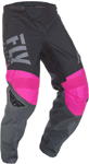 Fly Racing MX Motocross Boys Youth F-16 Pants (Neon Pink/Black/Grey)