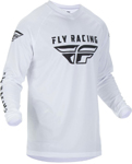 Fly Racing MX Motocross Universal Jersey (White)