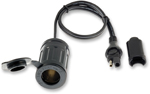 TecMate OptiMate 21mm Cigarette Lighter to SAE Cable Adapter O6