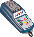 TecMate OptiMate 6 Select 9-Step 12V Battery Charger for Starter & Deep Cycle Batteries TM-191