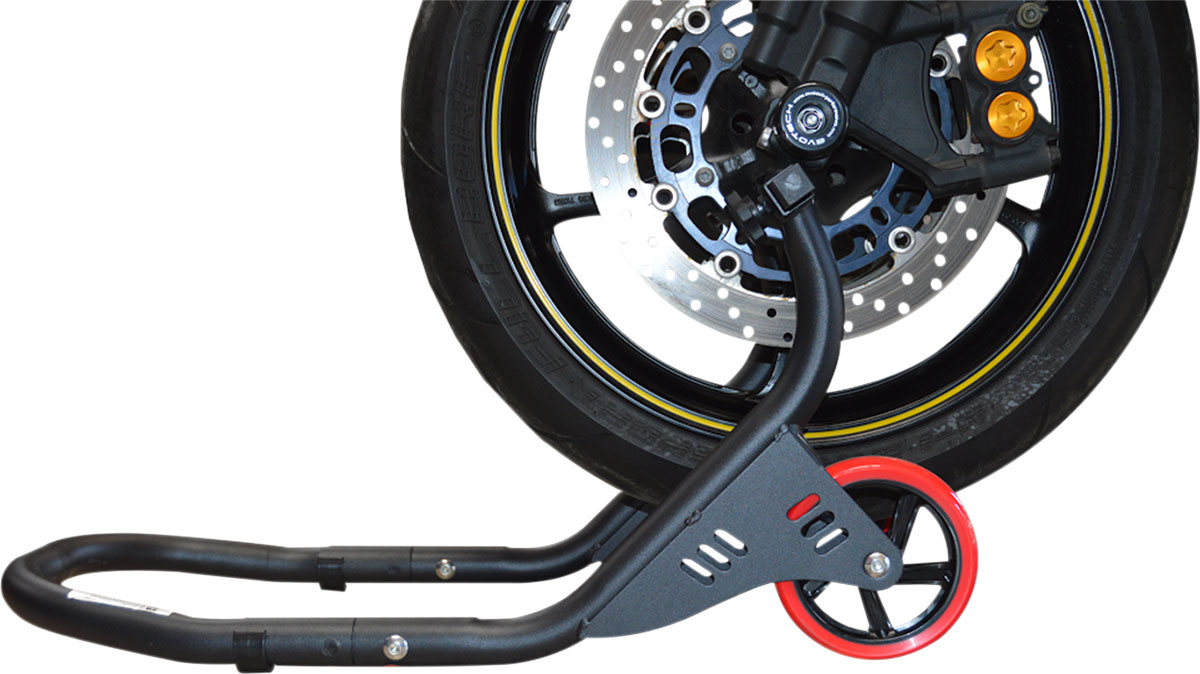 PSR Front Fork Motorcycle Stand (Black) Deluxe   00-00111-02