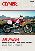 Clymer Repair Manual for Honda CR250R 1988-1991, CR500R 1988-2001