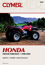 Clymer Repair Manual for Honda TRX450 Foreman 1998-2004