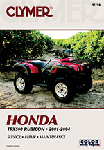 Clymer Repair Manual for Honda TRX500 Rubicon 2001-2004
