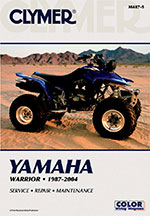 Clymer Repair Manual for Yamaha Warrior YFM350X 1987-2004