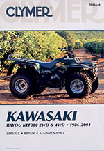 Clymer Repair Manual for Kawasaki KLF300 2WD 1986-2004, 4WD 1989-2004