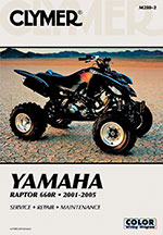 Clymer Repair Manual for Yamaha Raptor 660R, 2001-2005