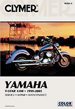 Clymer Repair Manual for Yamaha Vstar V-Star 1100 Custom Classic 1999-2009