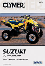 Clymer Repair Manual for Suzuki LT-Z400 2003-2008