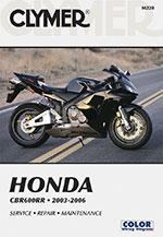 Clymer Repair Manual for Honda CBR600RR 2003-2006