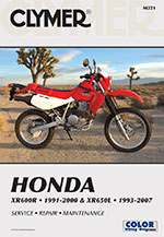 Clymer Repair Manual for Honda XR600R 1991-2000 and XR650L 1993-2012