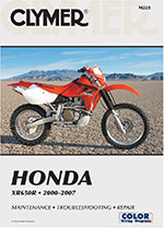 Clymer Repair Manual for Honda XR650R 2000-2007