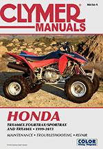 Clymer Repair Manual for Honda TRX400EX FourTrax 1999-2000, Sportrax 2001-2007