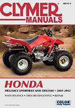 Clymer Repair Manual for Honda TRX250EX Sportrax 2001-2005