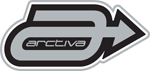ARCTIVA Snow Snowmobile 4.5 inch A LOGO Die-Cut Vinyl Decal/Sticker (Gray/Black)