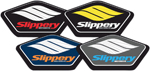 SLIPPERY Wetsuits - Sticker/Decal 4-pack (Red, Yellow, Orange, Blue)