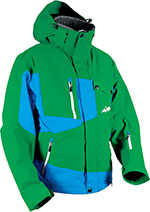 HMK Peak 2 Snowmobile 3-in-1 Jacket (Green/Blue)