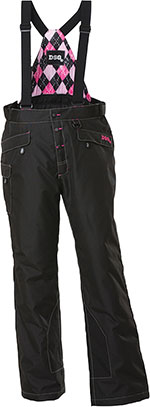 DIVAS Snow Gear CRAZE Insulated Snowmobile Bibs/Pants (Black)