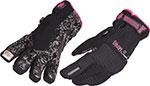 DIVAS Snow Gear VERSA Snowmobile Gloves w/Touch Fingertip (Black)