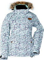 DIVAS Snow Gear ARCTIC APPEAL Insulated Snowmobile Jacket (Geo)