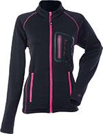 DIVAS Snow Gear Performance Fleece Mid-Layer Jacket (Black/Pink)