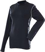 DIVAS Snow Gear LACE Tech Base Layer Top/Shirt (Black)