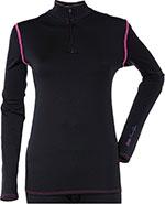 DIVAS Snow Gear Tech Subpolar Mid-Weight Layer Top/Shirt (Black)