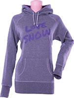 DIVAS Snow Gear LOVE SNOW Hoody Hoodie/Sweatshirt (Purple)