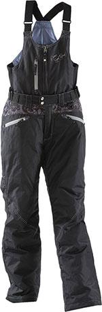 DIVAS Snow Gear LACE Insulated Snowmobile Bibs/Pants (Black)