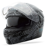 GMAX Divas Snow Gear DSG GM54S Modular Helmet (AZTEC Black)