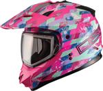 GMAX Divas Snow Gear DSG GM11S Snow Helmet (CHECKED OUT Pink)