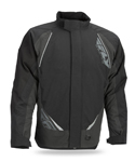 FLY RACING Snow Snowmobile 2017 AURORA Insulated Jacket (Black/Grey)