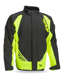 FLY RACING Snow Snowmobile 2017 AURORA Insulated Jacket (Black/Hi-Vis)