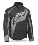 FLY RACING Snow Snowmobile 2017 OUTPOST Insulated Jacket (Black/Grey)