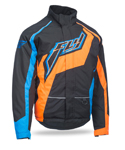 FLY RACING Snow Snowmobile 2017 OUTPOST Insulated Jacket (Black/Orange/Blue)