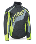 FLY RACING Snow Snowmobile 2017 OUTPOST Insulated Jacket (Black/Grey/Hi-Vis)