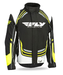 FLY RACING Snow Snowmobile 2017 SNX Pro Weatherproof Jacket (Black/White/Hi-Vis)
