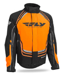FLY RACING Snow Snowmobile Kids 2017 SNX Pro Weatherproof Jacket (Black/Orange)